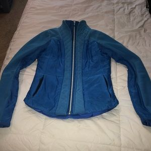 lululemon athletica Jackets & Coats - Lululemon blue zipper winter jacket sz4